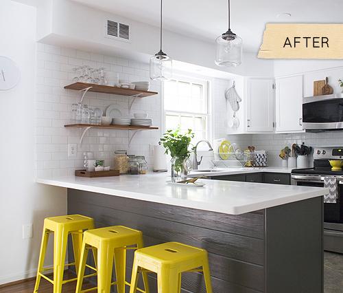 Urban home sweet home renovar una cocina por poco dinero for Cocinas tipo americano modernas