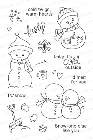 Frozen Friends Stamp Set from Newton's Nook Designs