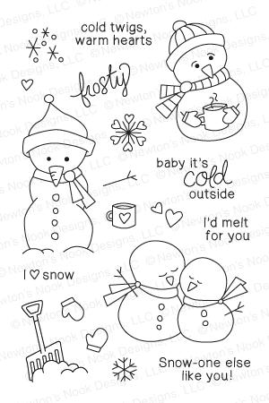 Frozen Friends Stamp Set from Newton's Nook Designs