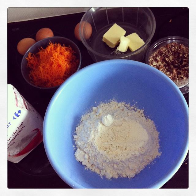 ingrédients du carrot cake