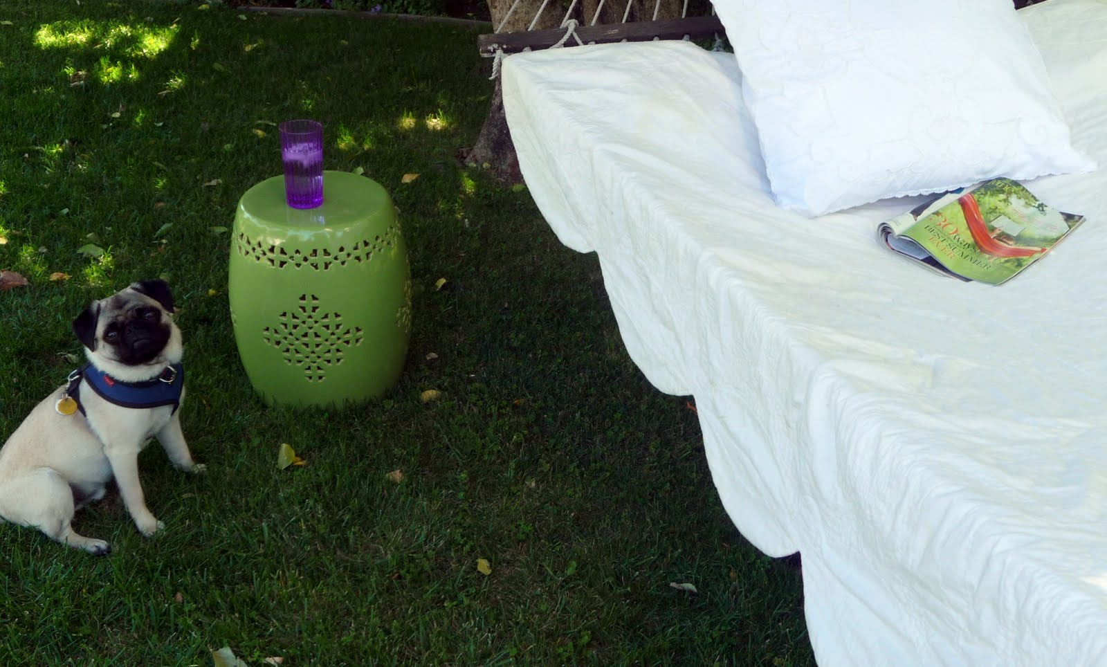Teapots And Polka Dots Chinese Garden Stool