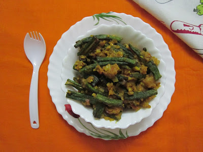 Fried Masala Bhindi - A Very Different And Easy Recipe