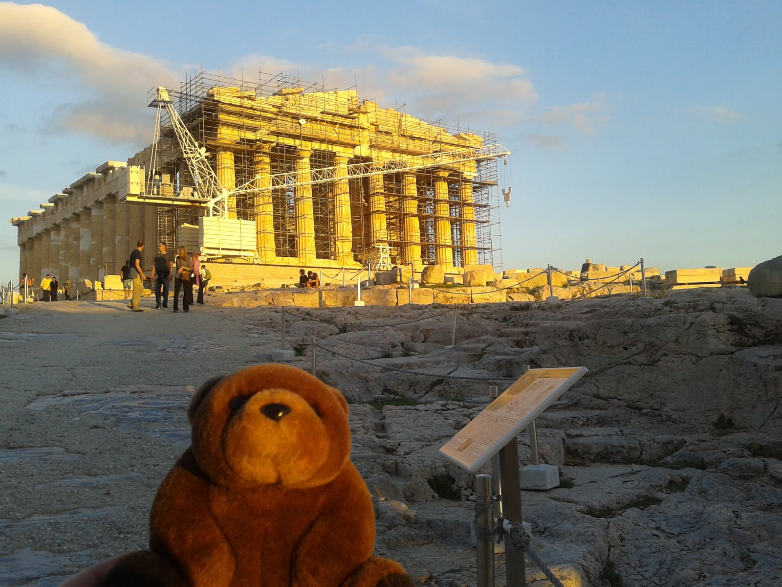 Teddy Bear in Acropolis, Athens