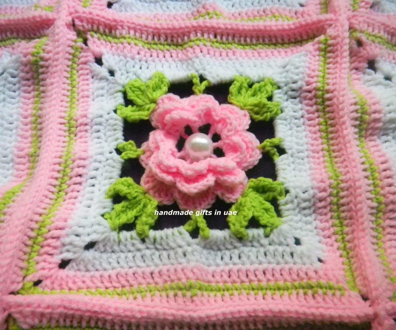 Crochet 3d Flower Baby Blanket Free Pattern : sandvicrochet: crochet 3D flower blanket