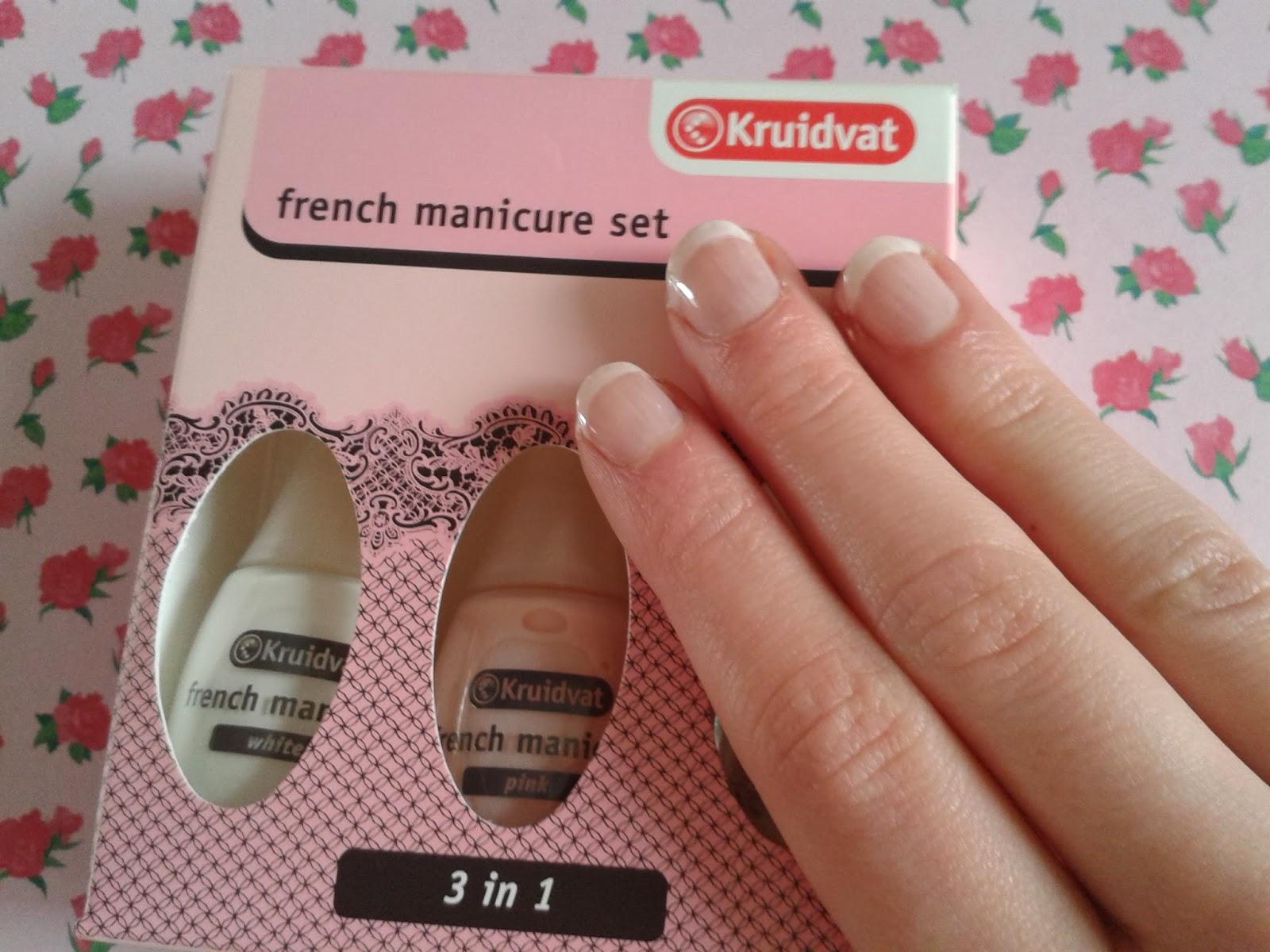 kimmiesbeauty french manicure set kruidvat. Black Bedroom Furniture Sets. Home Design Ideas
