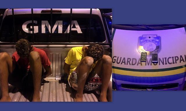 Guarda Municipal de Aracaju apreende quatro menores após roubo de celulares