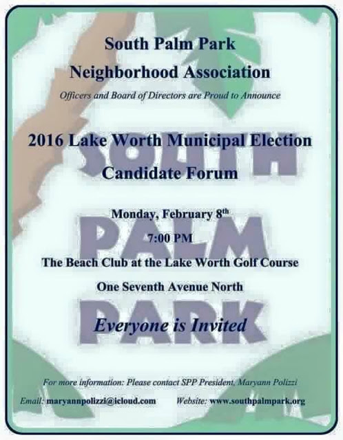 south palm park candidate forum