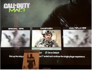 MW3 menu