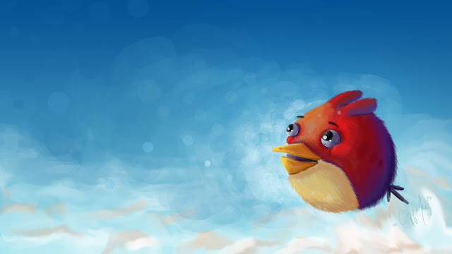Angry Bird Art HD Wallpaper