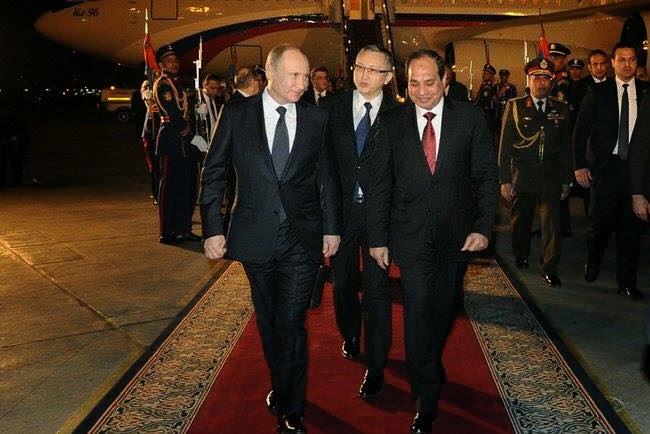 Welcome Mr. President to Egypt ,بوتين في مصر ,Наконец Путин в Египте ,Putin is in Egypt