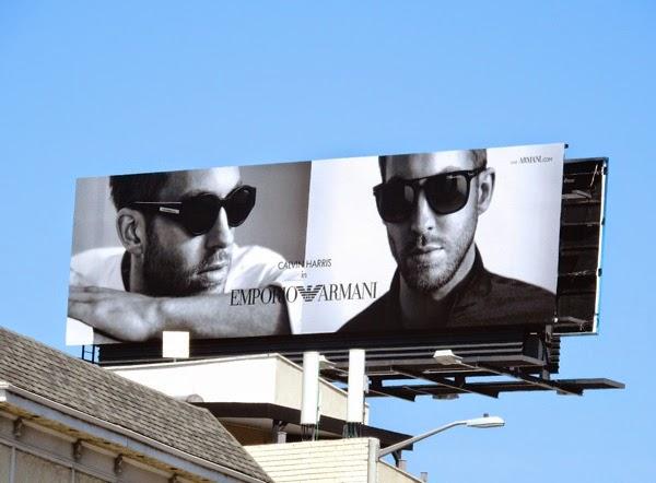 Calvin Harris Emporio Armani Eyewear 2015 billboard