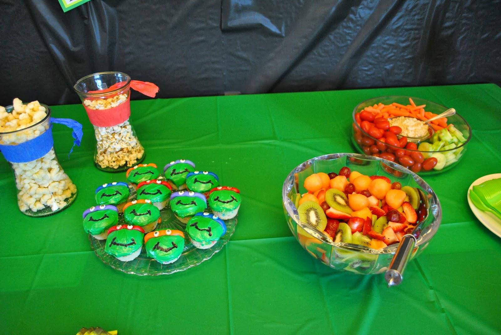 A Teenage Mutant Ninja Turtle Birthday Party
