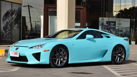 A Baby Blue Lexus Lfa Works Well