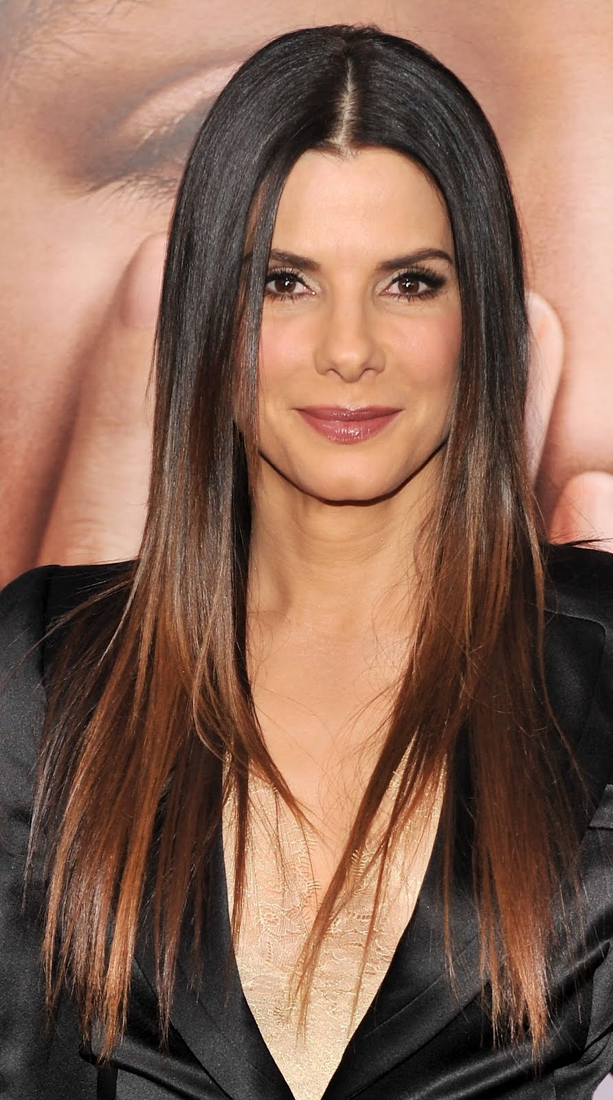 sandra bullock ombre hair short hairstyle 2013. Black Bedroom Furniture Sets. Home Design Ideas