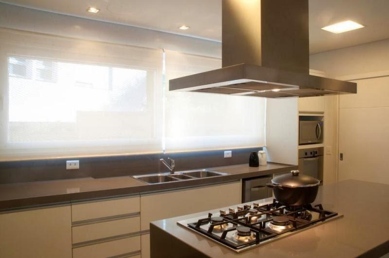 Luciane Solonynka Basotti Dicas  Arquitetura clean e interiores integrado # Bancada Cozinha Luciane