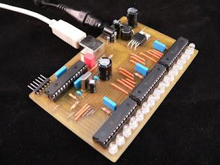 VU Meter LED RGB USB PIC