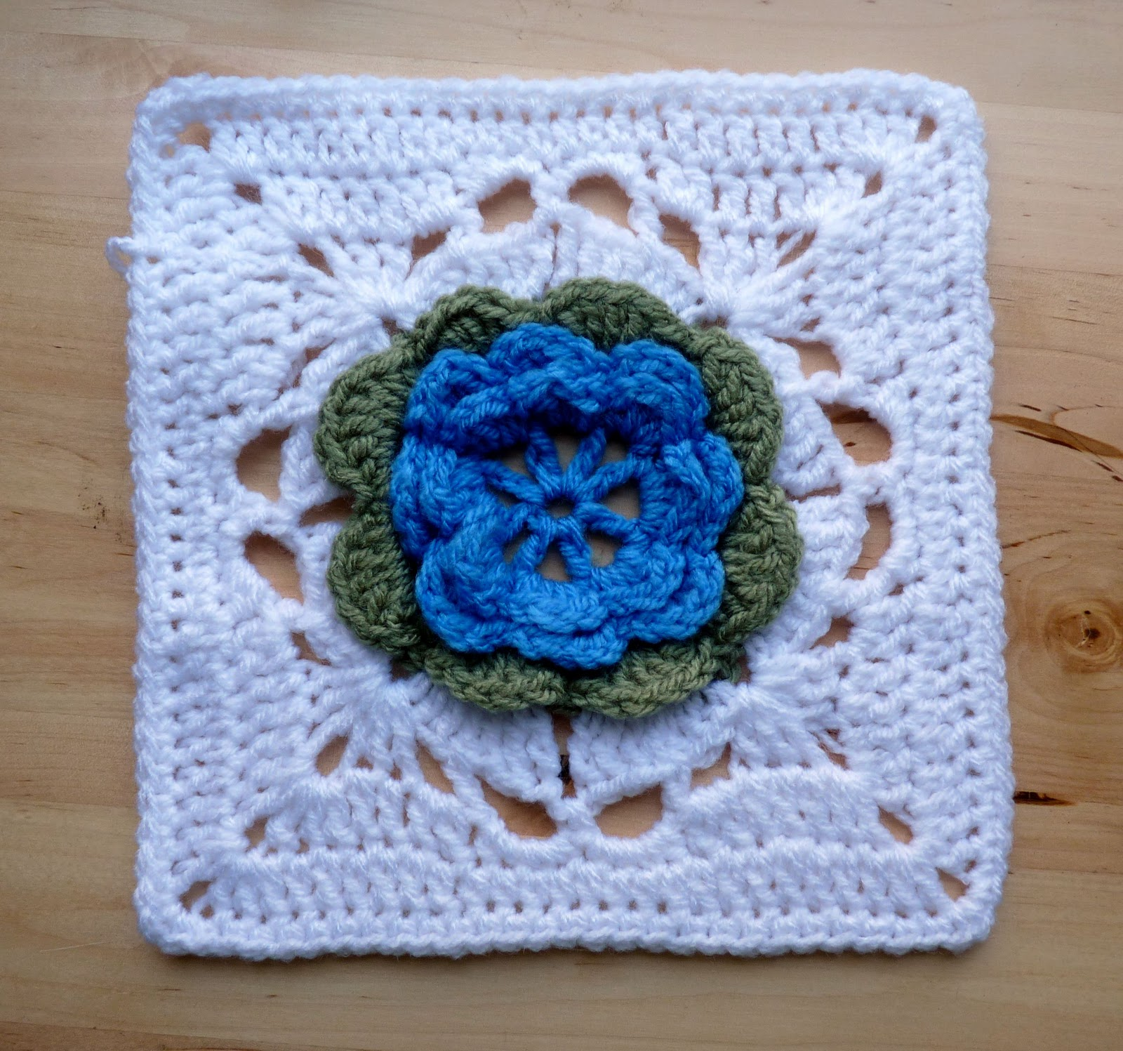 Free Crochet Rose Square Pattern : The Adventures of the Gingerbread Lady: PATTERN: Emilys Roses