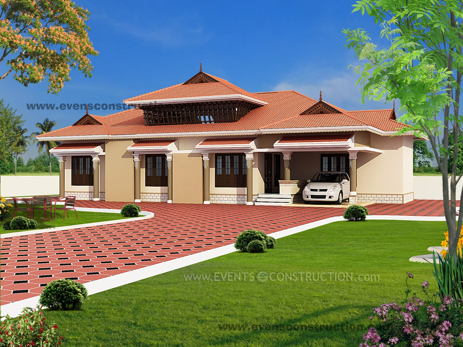 Evens construction pvt ltd traditional kerala house design for Home designs ltd