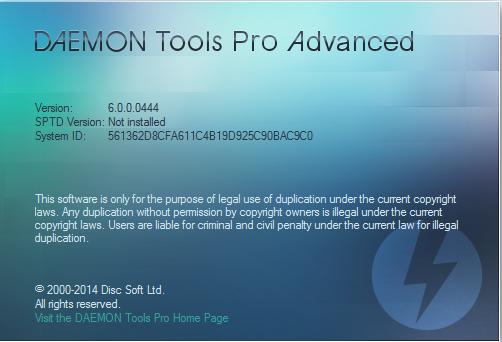 Daemon Tools Pro Advanced 6.0 Full Crack