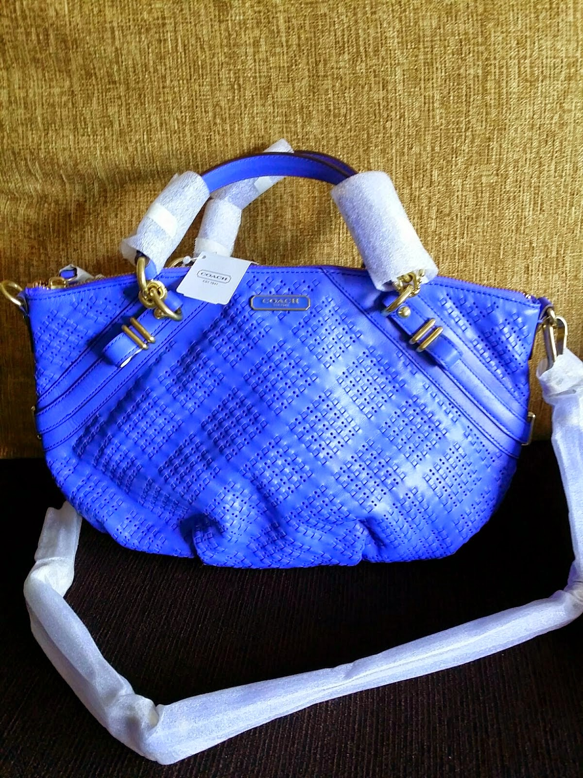 COACH MADISON WOVEN SOPHIA SATCHEL