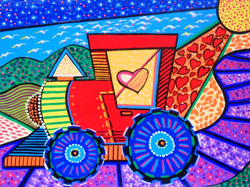 Cuadros modernos pintura decorativa con carritos - Pintura cuadros modernos ...