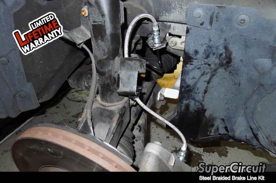 Steel Braided Brake Lines Installed : Supercircuit steel braided brake lines mazda mps