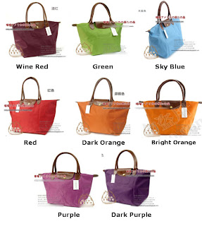 ?Long Champ Bag Pack S$42. Pink, Purple, Khaki, Navy, Grey