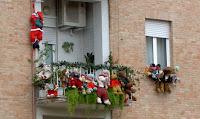decoración de balcones navidad
