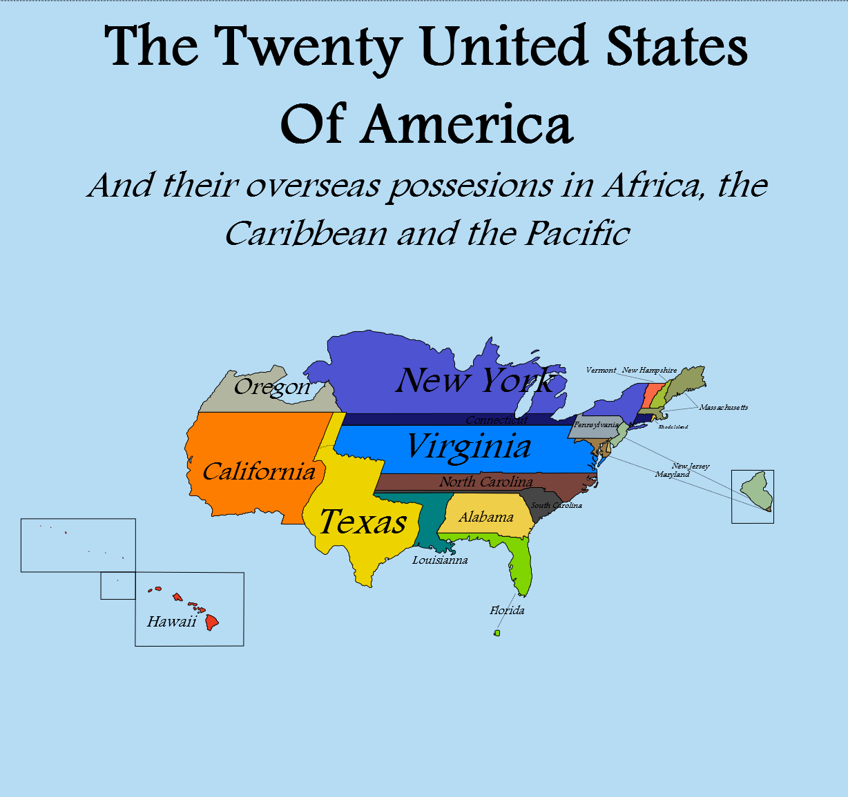 Alternate History Weekly Update Map Monday The Twenty United - Alternate-us-map