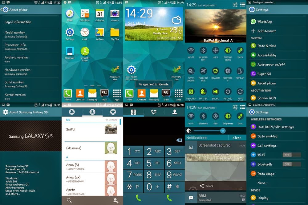 Memasang Custom ROM Samsung Galaxy S5 di Smartfren Andromax C2   Base ...