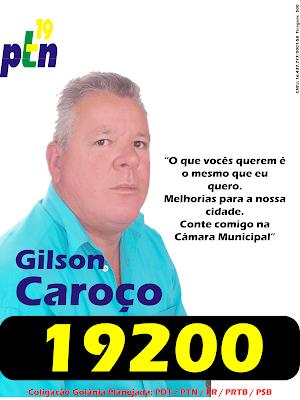 Gilson Caroço 19200 Para Vereador