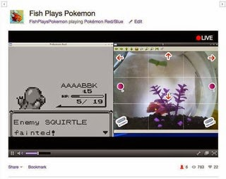 Fish playing Pokemon wins battle full fight