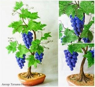 плетение бисером винограда