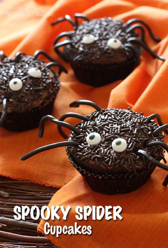 Spooky Spider Cupcakes | Skinnytaste