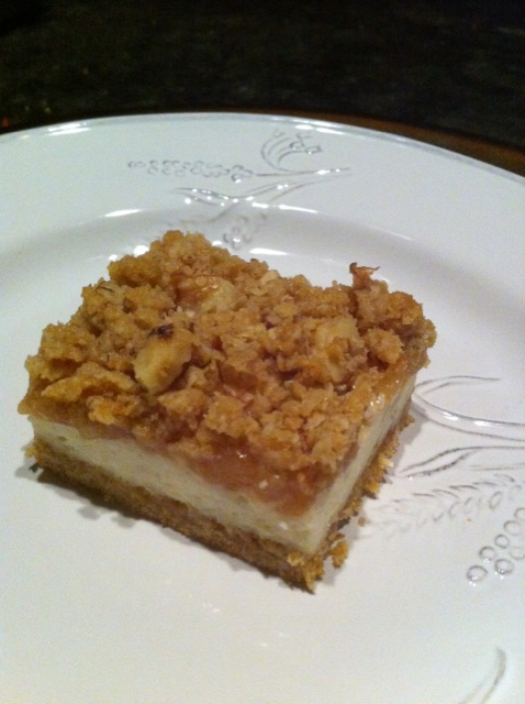 ... these bars using a recipe called apple streusel cheesecake bars