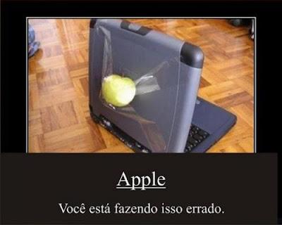 Apple você está fazendo isso errado
