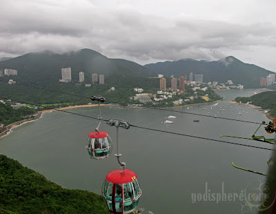 Hong Kong Ocean Park Cable Cars hanging by a thread