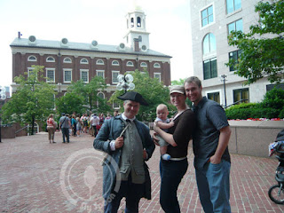 Freedom Trail Tour guide dressed up actor