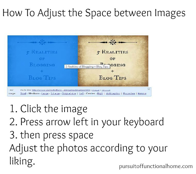 How to Adjust the Space between Images