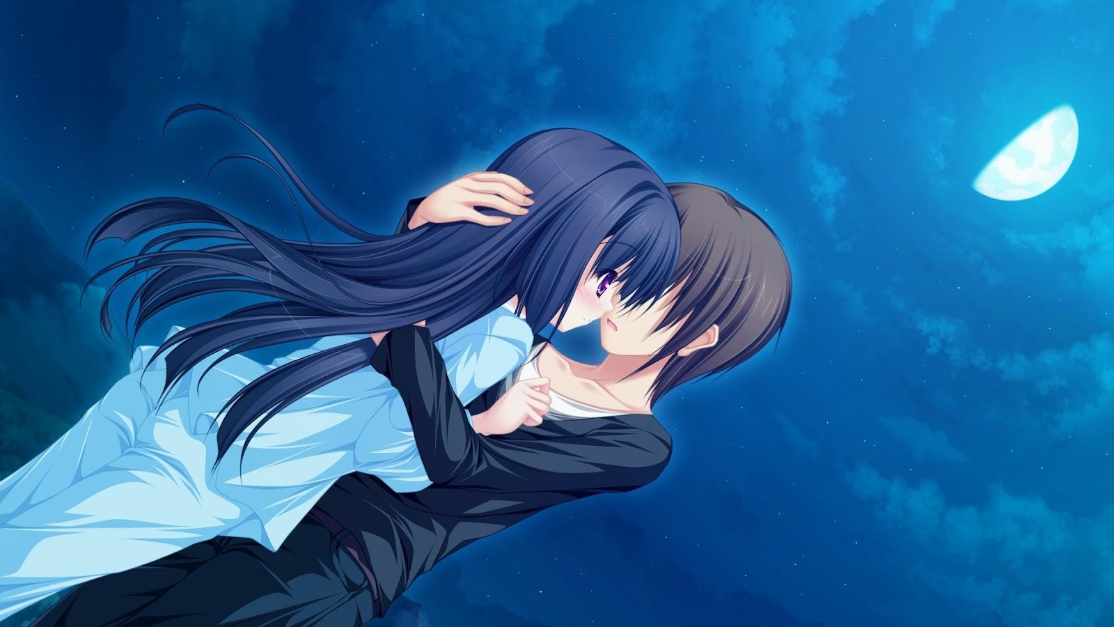 anime couple hugging wallpapers - photo #17