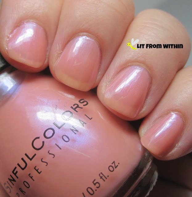 Sinful Colors Genteel, a pretty pink with a little shimmer
