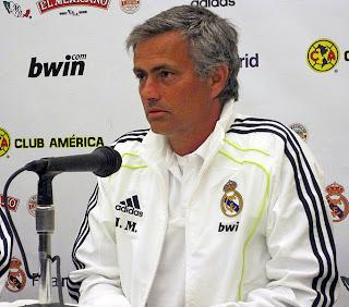 José Mourinho en rueda de prensa con el Real Madrid
