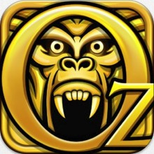 A logo showing a monkey head behind the words Oz
