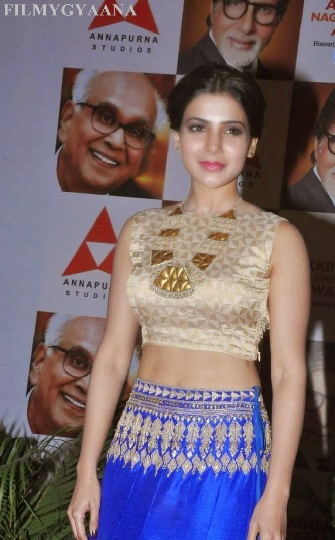 Samantha Ruth Prabhu Backless Photos ANR Award Function 2015