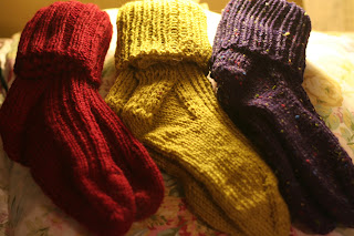 hand-knitted wool socks