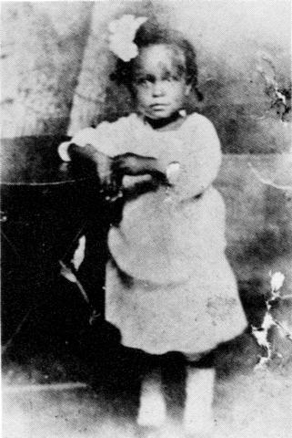 Eleanora Fagan at 2 years-old