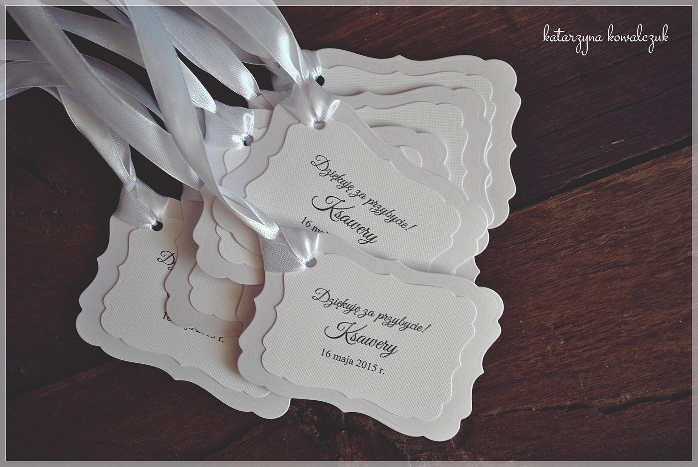 karteczki - podziękowania dla gości