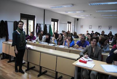 Olga Casal en la Universidad de Salamanca