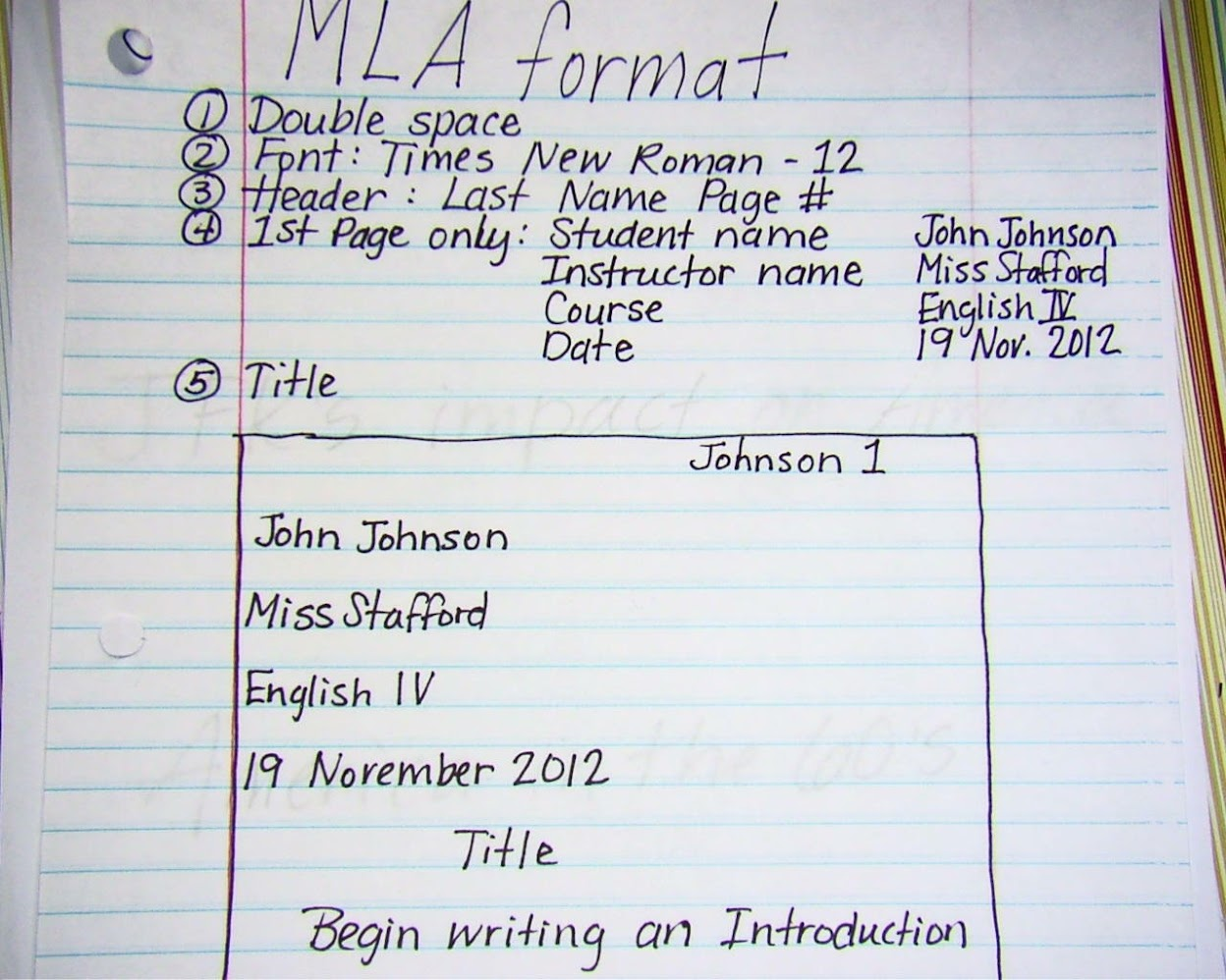 mla format for essay citation