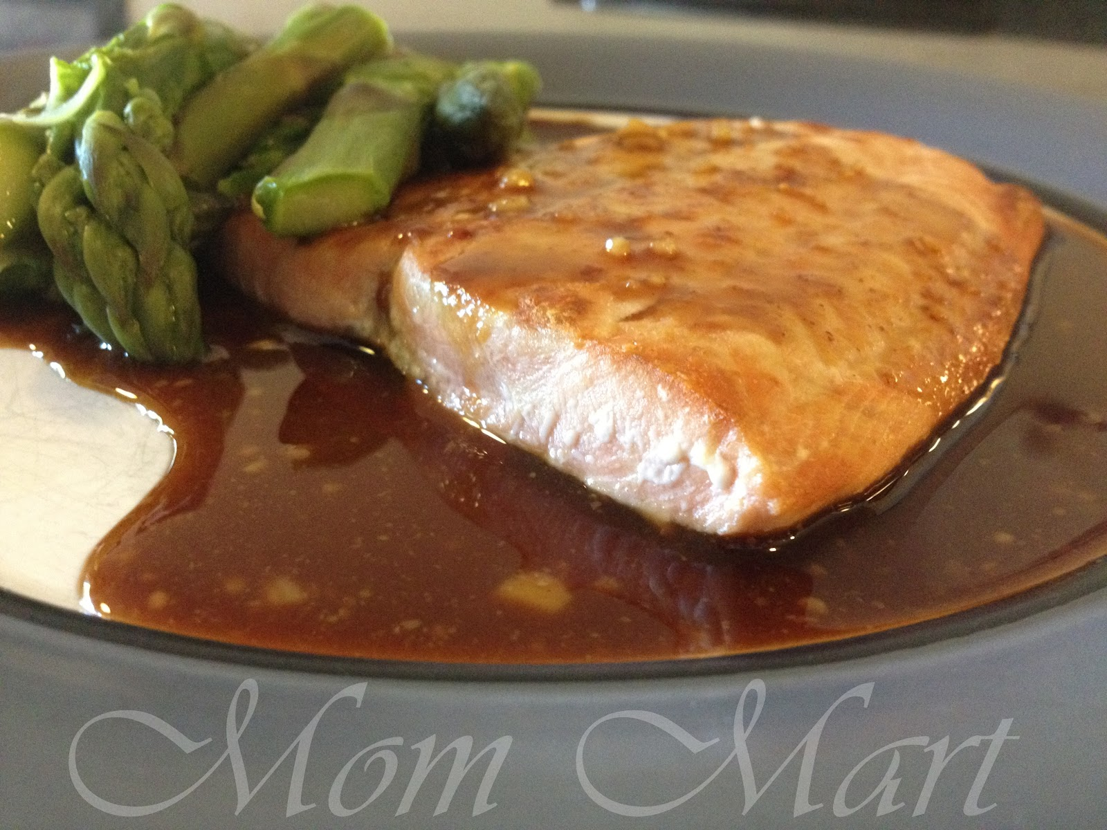 Mom Mart: Quick and Easy Recipe for Salmon with Honey Mustard Glaze